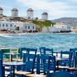 Dining in mykonos — Foto Stock