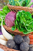 Basket full with Vegetables — Stock Photo