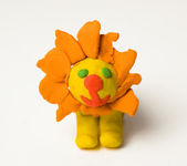 Plasticine Lion — Stock Photo