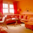 Royalty-Free Stock Photo: Orange Living Room