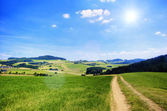 Road in an Austrian Landscape — Stock Photo