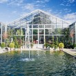 图库照片: Greenhouse with Fountain