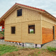 Foto Stock: Wooden House Shell