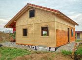 Escudo de madeira da casa — Foto Stock