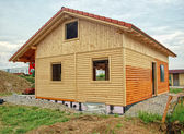 Wooden House Shell — Foto de Stock