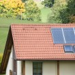 Stock Photo: House with Solar Panels