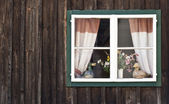 Traditional Window in Salzkammergut — Stock Photo