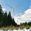 Wind Turbine in Snow Landscape — Stock fotografie