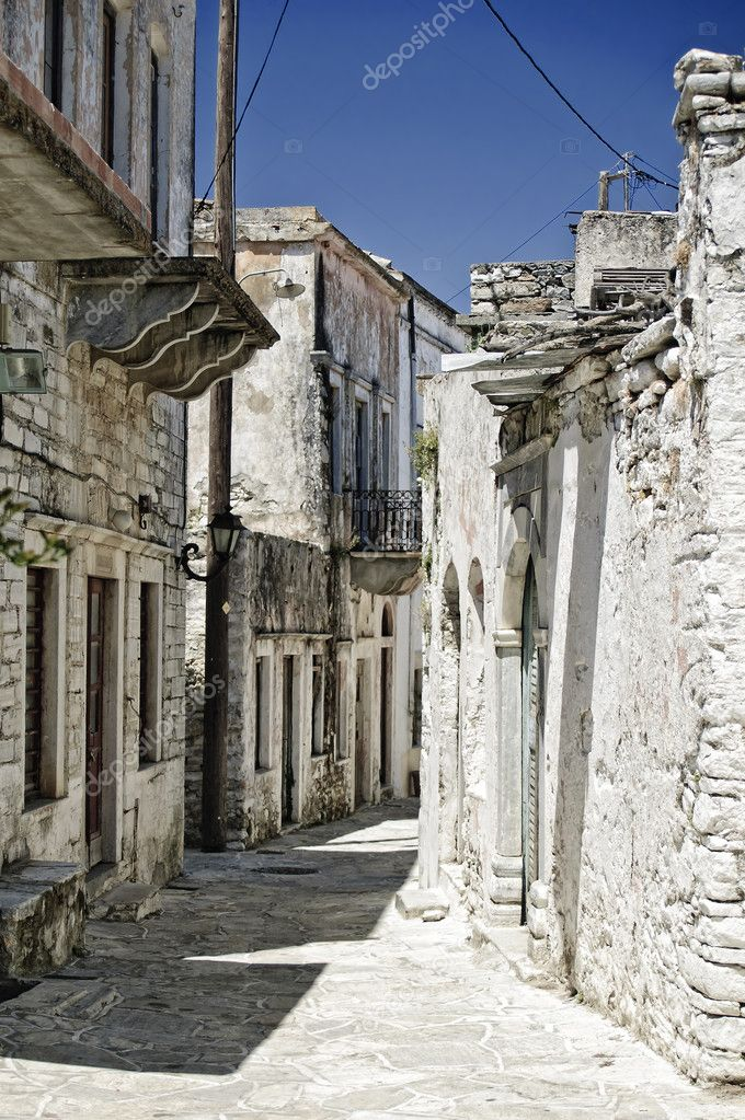 Alley in a ruined Village in Naxos, Greece — Stock Photo #5258688