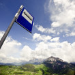 Bus Stop Sign in the Alps — Stockfoto