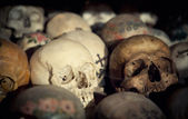Skulls in a Bone House — Stock Photo