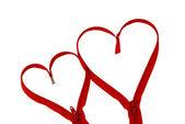 Walentynki dzień czerwony zamek serca na białym tle — Zdjęcie stockowe
