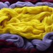 Colorful knitting yarns - Stock Photo