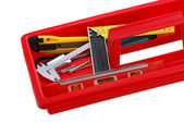Closeup of tray with tools — Stock Photo