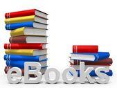 Colorful EBooks — Stock Photo