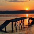 Sunset bridge — Stockfoto