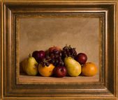 Framed still life fruit — Stock Photo