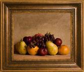 Framed still life fruit — Stock Photo