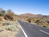 Road to volcano — Stock Photo