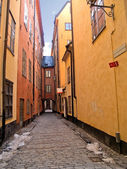 Street of old town (Gamla Stan), Stockholm — Stock Photo
