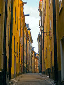 Street of old town, Stockholm — Stock Photo