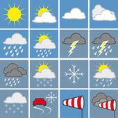 Wettersymbole — Stock Vector