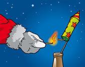 Weihnachtsmannrakete 2 — Stock vektor