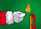 Weihnachtsmannkerze — Stock Vector