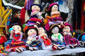 Children's cloth dolls — Stock Photo