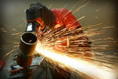 Welder works sparkle — Fotografia Stock