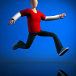 Stockfoto: Jumping guy