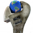 Wrench & Earth — Stock Photo