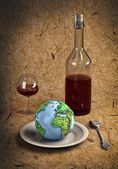 Cutlery&Earth — Stock Photo