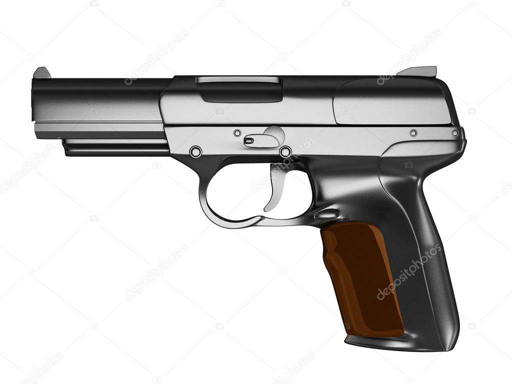 gun white background - photo #49