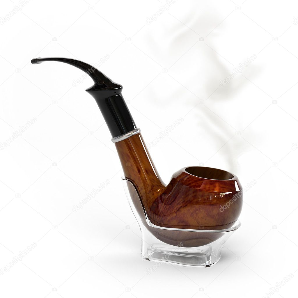 This is a 3D image with a pipe  Stock Photo #5049637