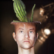 Cactus man — Stock Photo