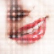 Stock Photo: Smile pixels