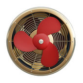 Fan with red blades — Stock Photo