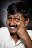 Indian man with moustache — Stock Photo