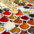 Indian colored powder spices - Stok fotoğraf