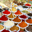 Indian colored powder spices - Stockfoto