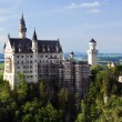 The Neuschwanstein Castle on good summer day, Bavaria, Germany - Stock Photo