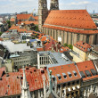 Panoramic view on city and the Cathedral of Our Lady, Munich, Germany - Stock Photo