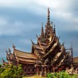 Construction of wooden temple Sanctuary of Truth - Stock Photo