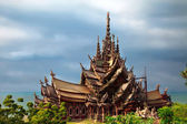 Construction of wooden temple Sanctuary of Truth — Stock Photo