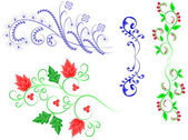 Flower patterns — Stock Vector