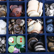Container with buttons — Stockfoto