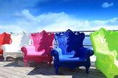 Poltronas coloridas — Foto Stock