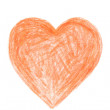 Drawn Happy Valentines Heart - Stock Photo