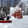 Snow blowing man — Stock Photo #4907463